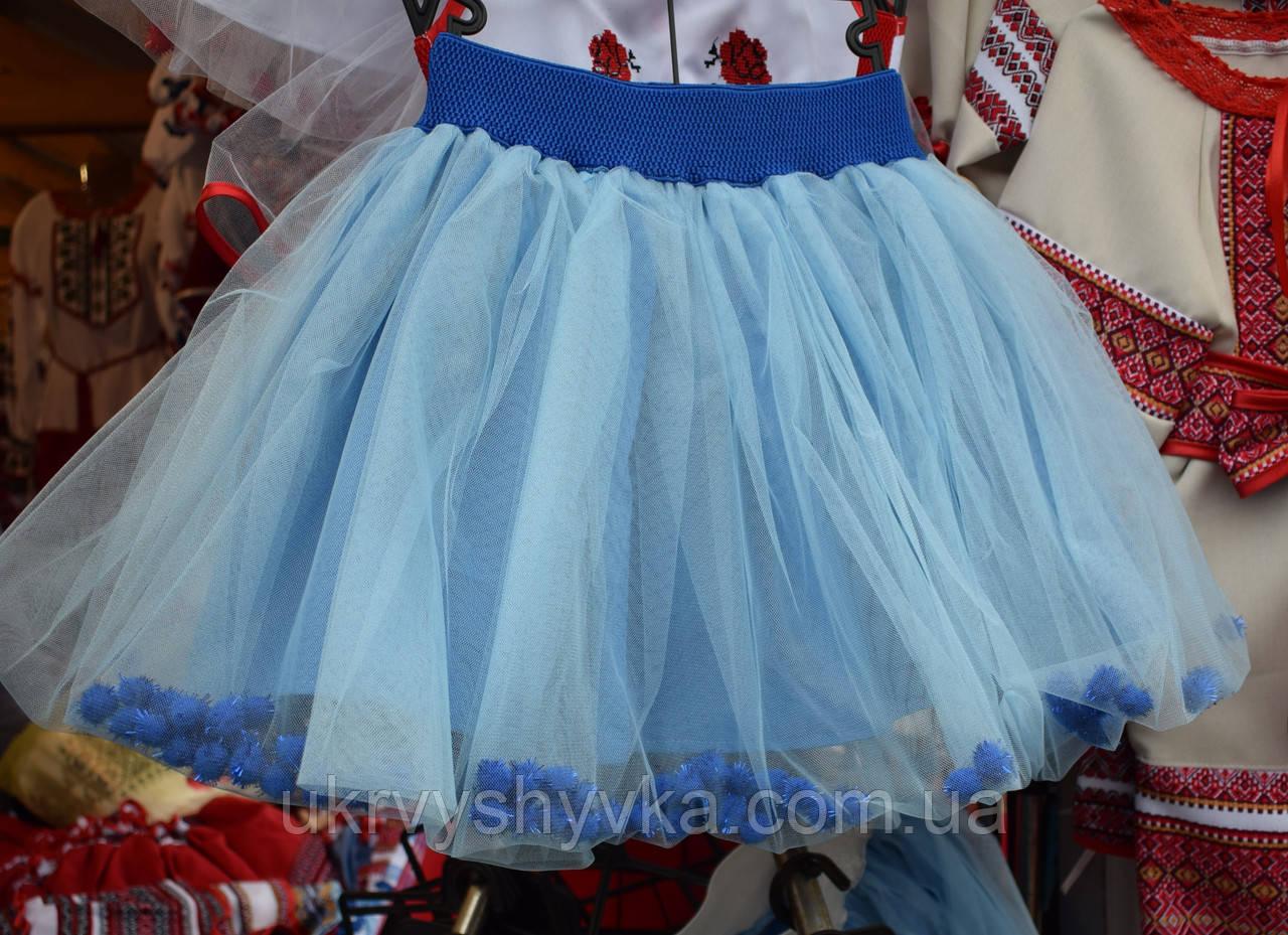 """Спідничка для дівчинки """"Барбі"""" голуба"""