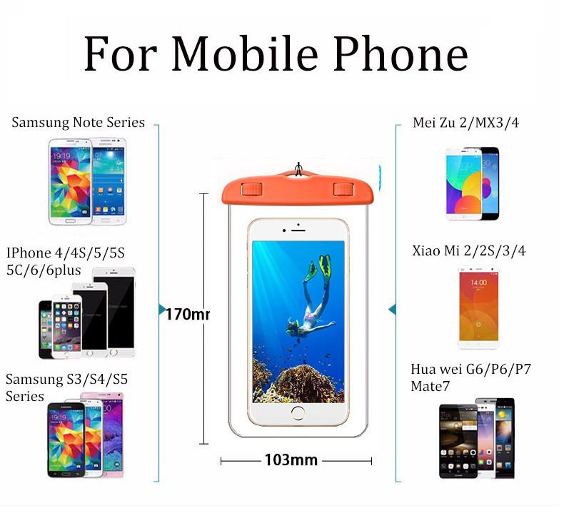 Универсальный водонепроницаемый чехол для iPhone, смартфона телефона