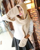 Зимний капюшон-шарф