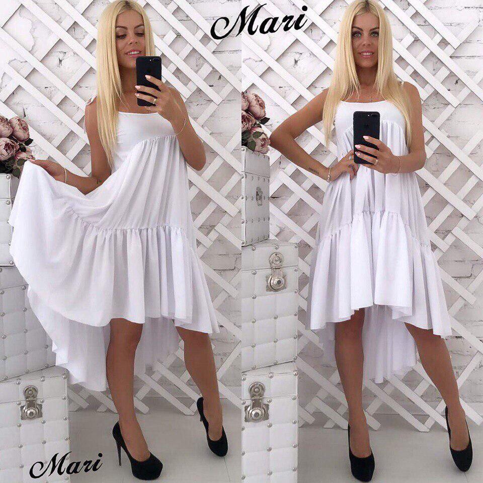 2ba62cf0980b6fe Платье спереди короче сзади немного длиннее — купить недорого в ...