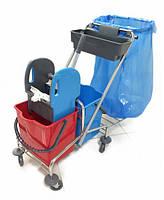 Візок для прибирання на 2 відра з мусорним пакетом CK759-T (1шт/ящ)