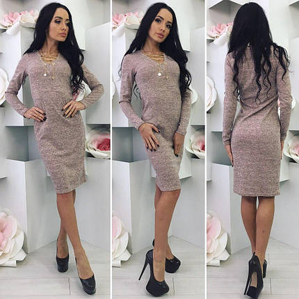 Платье миди пудра, фото 2