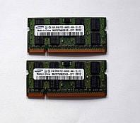 324 Память 2 GB DDR2-800 PC2-6400 Samsung SO-DIMM для ноутбуков Intel/AMD, фото 1
