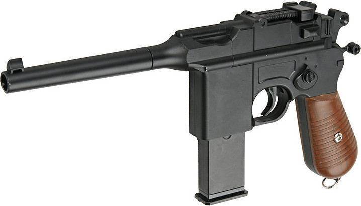 Детский металлический пистолет Galaxy G.12 (Mauser C-96), страйкбольный Маузер, пистолеты на пульках, игрушки