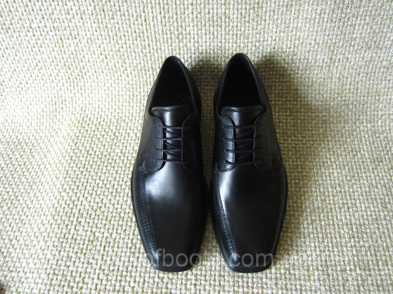 5dfefb4bada6 Туфлі чорні шкіряні оригінал нові Ecco Johannesburg Perf Tie 623574 розмір  39