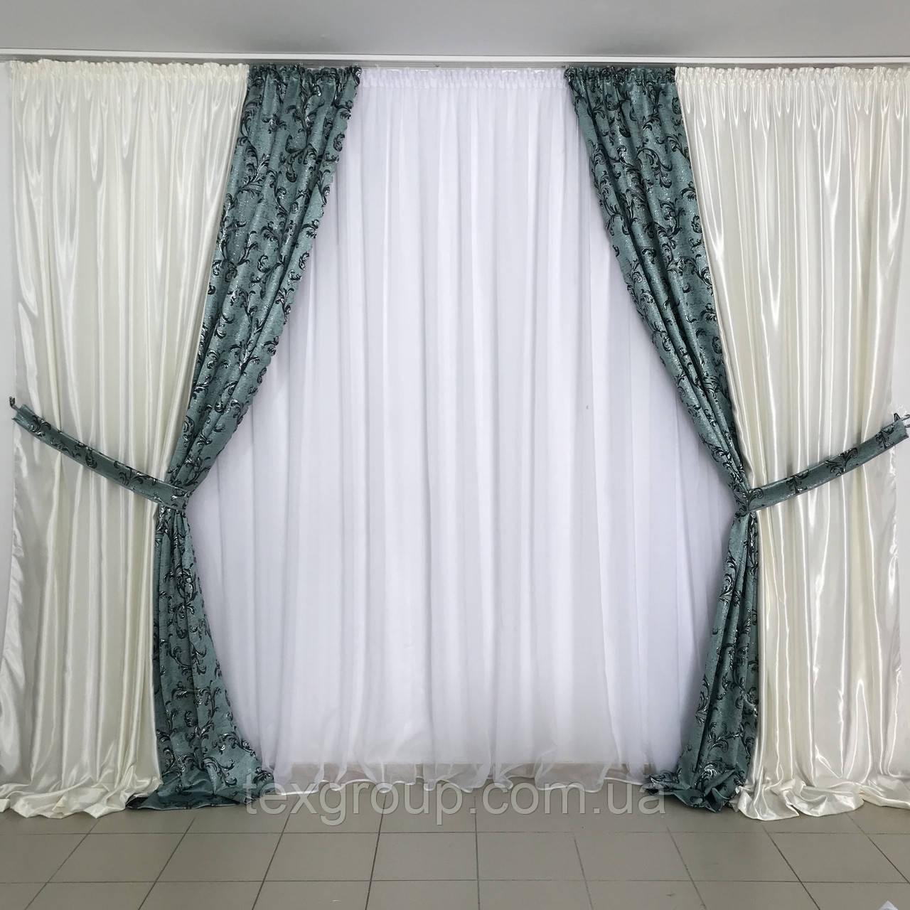 Готовые шторы Мелодия №345
