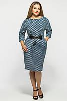 Женственное платье Тэйлор р. 52-58 принт, фото 1