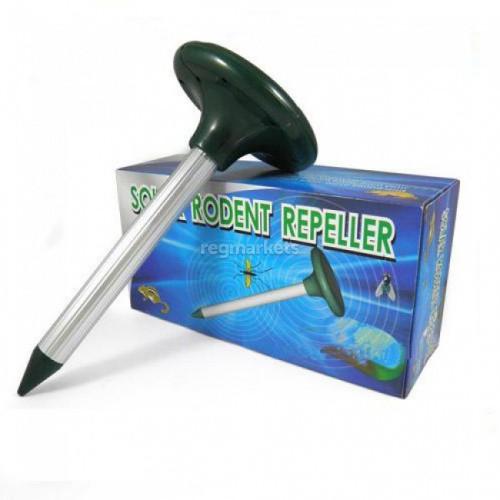 Универсальный отпугиватель кротов и змей «Solar Rodent Repeller».