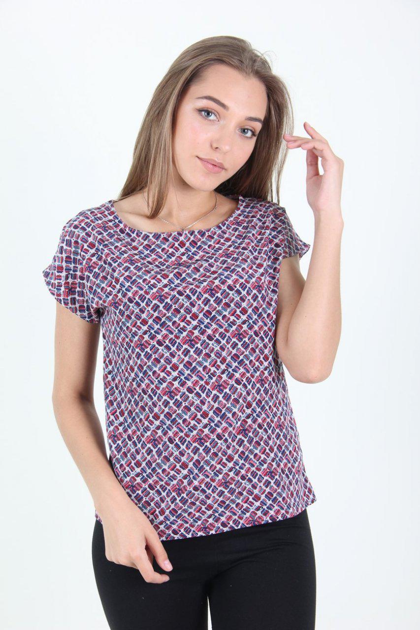 Недорогая летняя блуза из софта. Модель 3019