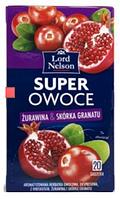Чай ягодный Lord Nelson Super Owoce  с клюквой и гранатом  20 пакет. Польша