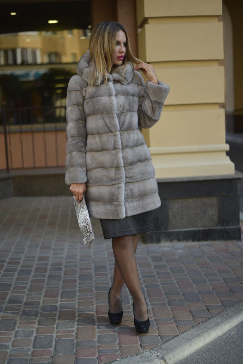 Женская шуба серая норковая шубка купить из наличия,доступен индивидуальный пошив (434)