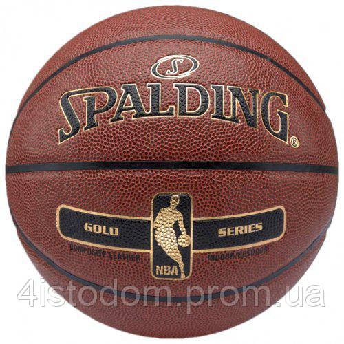 Баскетбольный мяч Spalding NBA Gold (5)
