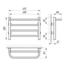 Рушникосушка  сталева електрична LARIS Прайм  ЧФ4 400х300, фото 3