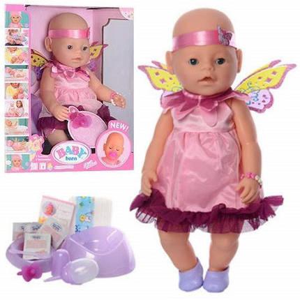 Кукла Пупс Baby Born (Беби Борн) 8020-471. 42 см, 9 функций, 9 аксессуаров, фото 2