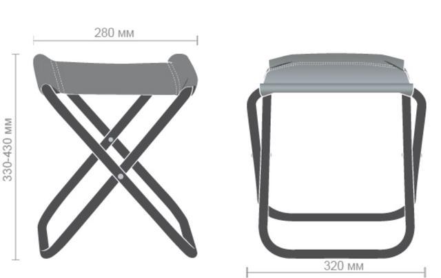 Табурет складной Пикник JD-1004B (размеры)