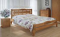 Деревянная кровать Осака люкс плюс 140х190 см. Meblikoff