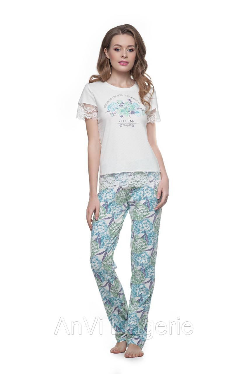 Женская пижама с штанами Ellen Гортензия  продажа b5ae41948e1cf