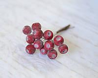 Искусственные ягоды в присыпке *12 шт. красные, фото 1
