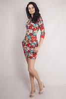 Стильное молодежное платье в цветочный принт, фото 1