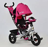 Велосипед 3х колесный Best Trike 7700. Поворотное сиденье, Игровая панель. Розовый