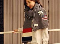 Молодежный теплый шарф
