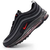 Мужские кроссовки Nike air max 97 черные. Топ качество! р.(45)