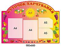 Стенд Уголок питания Солнышко (фрукты)