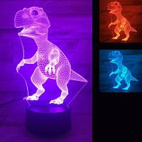 3D Светильник Динозавр
