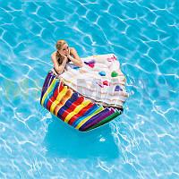"""Надувной пляжный матрас """"Кекс"""" Intex 58770 (142х135см)"""