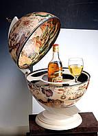 Глобус бар настольный Карта мира белый сфера 33 см Гранд Презент 33002W