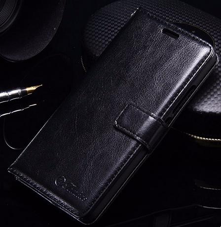 Кожаный чехол-книжка для Meizu m3s/ m3 mini / m3 черный, фото 2