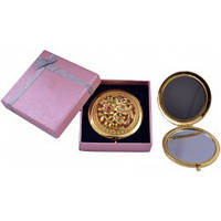 """Зеркальце в подарочной упаковке """"Испания"""" золото №7006-10-2 зеркало корманное"""
