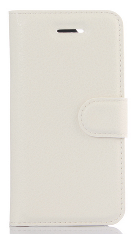 Кожаный чехол-книжка для ZTE Blade V7 Lite белый, фото 2