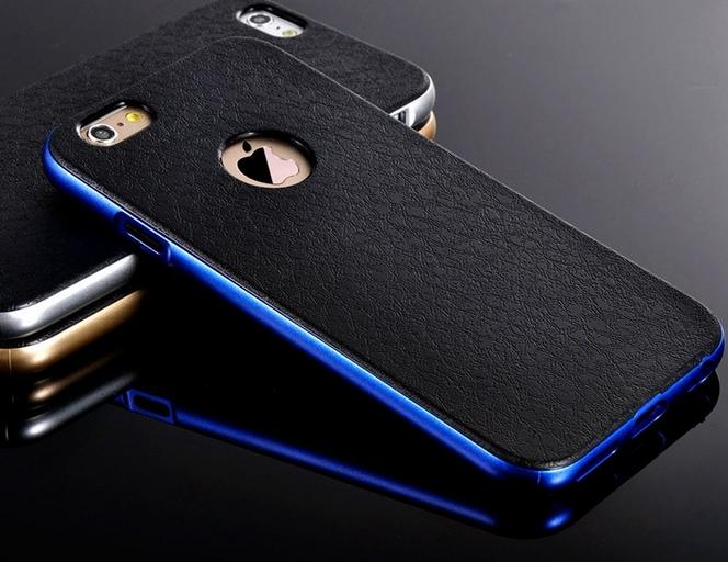 Роскошный чехол бампер для iPhone 5 5S синий