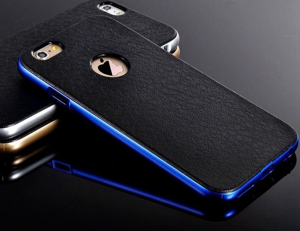 Роскошный чехол бампер для iPhone 5 5S синий, фото 2