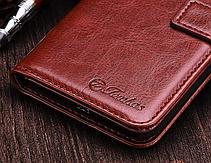 Кожаный чехол-книжка для Oneplus 5 коричневый, фото 3