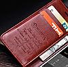 Кожаный чехол-книжка для Oneplus 5 коричневый, фото 2