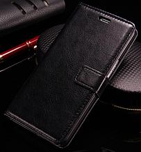 Кожаный чехол-книжка для Oneplus X черный