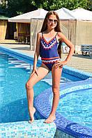 Сплошной купальник для девочки Keyzi Marine 134 Синий Keyzi Marine