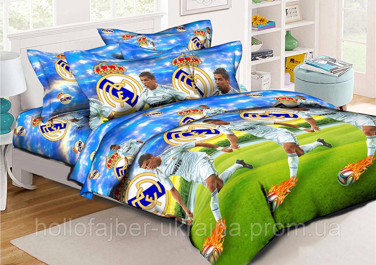 Детский комплект постельного белья Реал Мадрид 150*220 хлопок (9995) TM KRISPOL Украина
