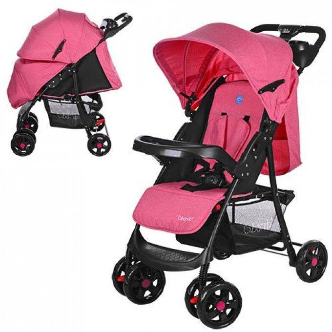 Детская прогулочная коляска Bambi (M 3408-8) Розовая