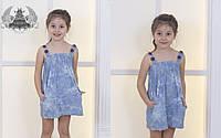Платье сарафан детское Лето тонкий джинс 86-92 , 98-104 , 110-116 Отличное качество