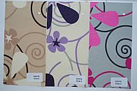 Ролетная ткань с цветами