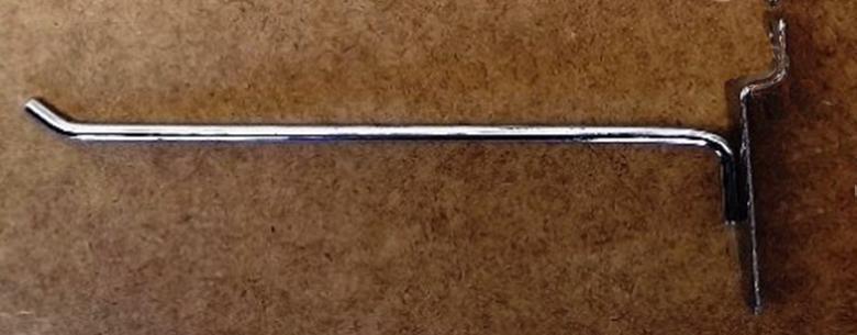 Гачок (крючок) хром розміром 300мм в торговою економпанель