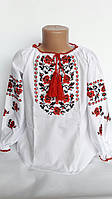 Детская вышиванка на девочку рр 146-158 Код опт111