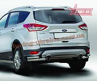 Защита задняя уголки d60/42 двойная Союз 96 на Ford Kuga 2013