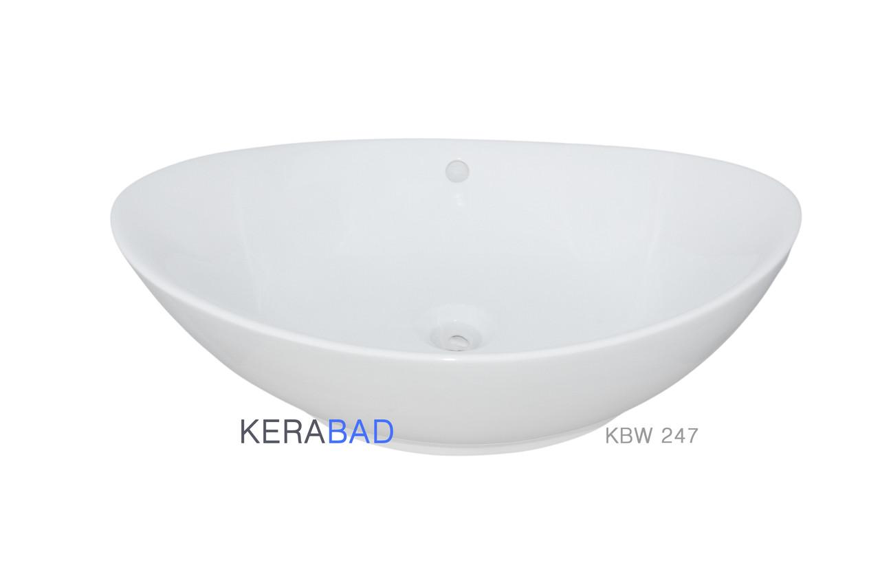 Умывальник накладной на столешницу Kerabad KBW247 (раковина Kerabad  KBW247) 58*38 Овальная форма