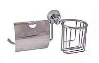 Держатель для туалетной бумаги и освежителя Welle Aviso Хром (180033)