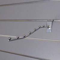 Міні флейта кронштейн хром розміром 250мм в торговою економпанель