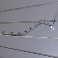 Флейта кронштейн хром розміром 350мм в торговою економпанель